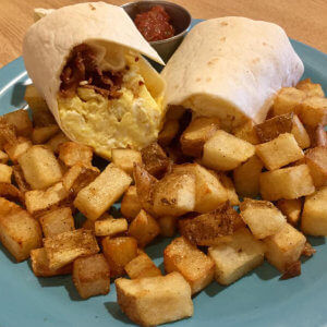 Breakfast Burrito with Bacon