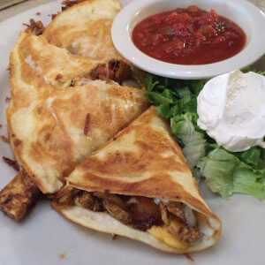 Chicken Quesadilla Lunch